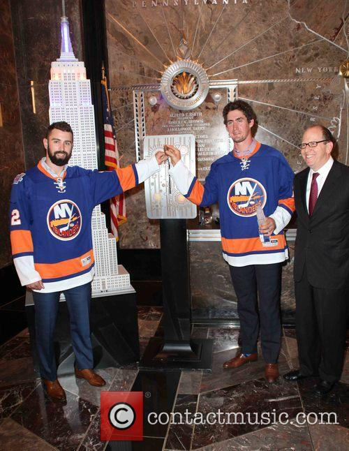 Nick Leddy, Brock Nelson and Jon Ledecky 1
