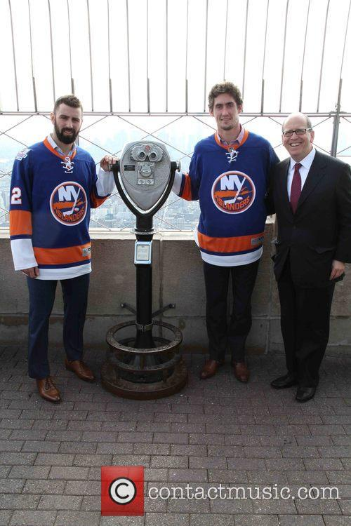 Nick Leddy, Brock Nelson and Jon Ledecky 7