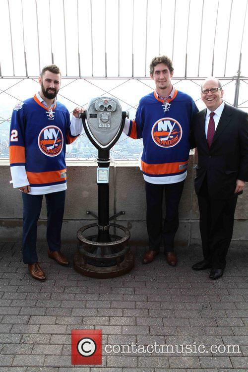 Nick Leddy, Brock Nelson and Jon Ledecky 8
