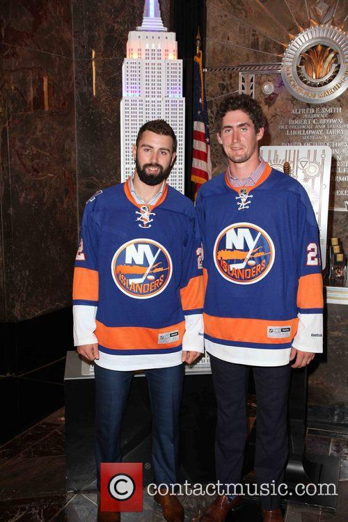 Nick Leddy and Brock Nelson 4