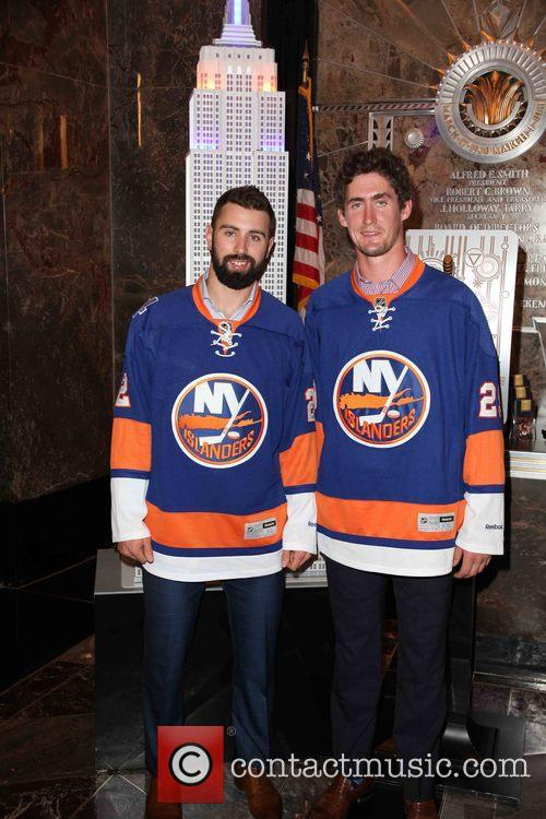Nick Leddy and Brock Nelson 5