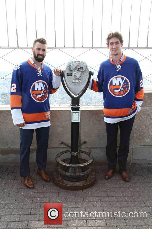 Nick Leddy and Brock Nelson 6