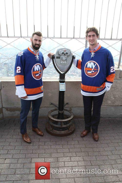 Nick Leddy and Brock Nelson 7