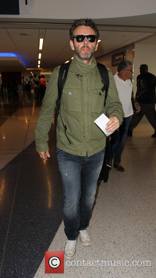 Michael Sheen departs from Los Angeles International Airport...