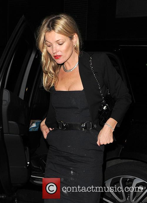 Kate Moss arrives at Chiltern Firehouse with ashes...