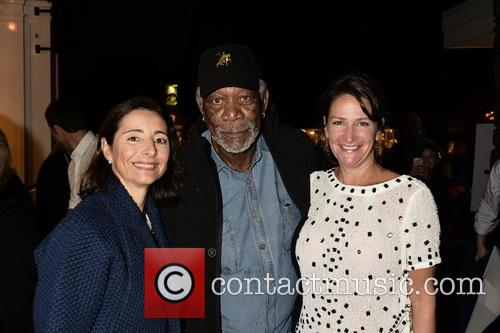 Pascaline Servan-schreiber, Morgan Freeman and Meghan O'hara 1