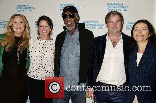 Lori Mccreary, Meghan O'hara, Morgan Freeman, Nick Mckinney and Pascaline Servan-schreiber 1