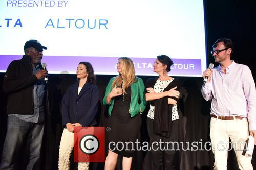 Morgan Freeman, Pascaline Servan-schreiber, Lori Mccreary, Meghan O'hara and David Nugent 1