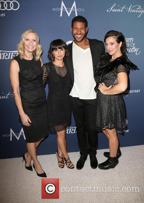 Liz Gateley, Constance Zimmer, Sarah Gertrude Shapiro and Guest 2