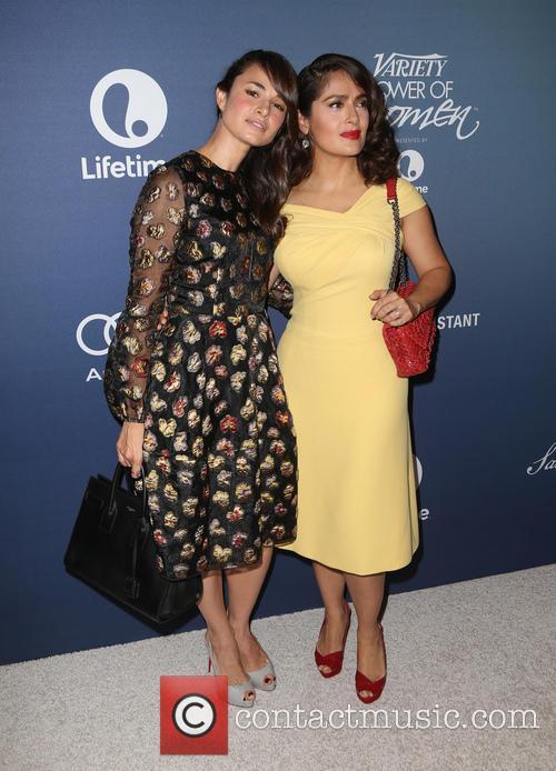 Mia Maestro and Salma Hayek Pinault 4
