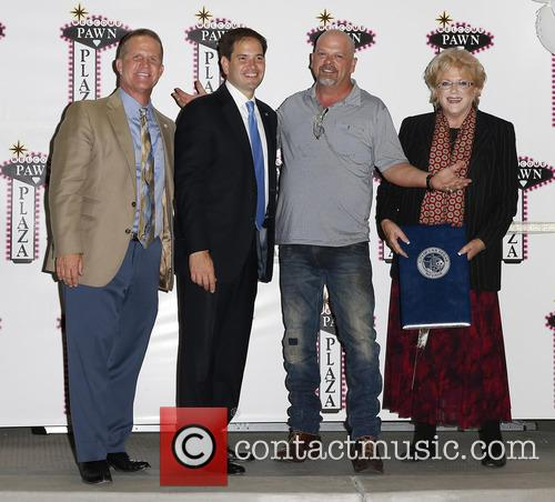 Lt Gov Mark Hutchison, Sen. Marco Rubio, Rick Harrison and Mayor Carolyn Goodman 1