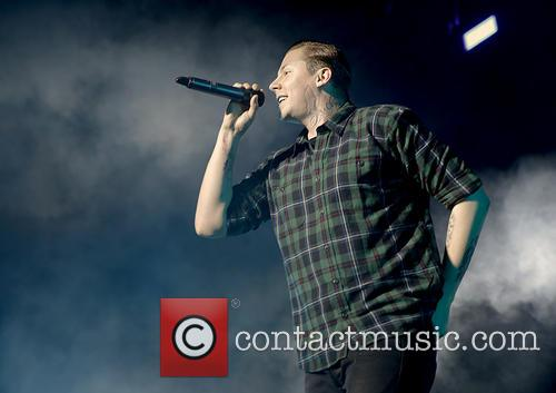 Professor Green performing at Manchester Arena