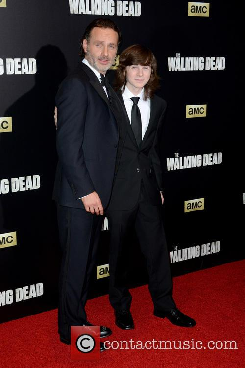 Andrew Lincoln and Chandler Riggs 3