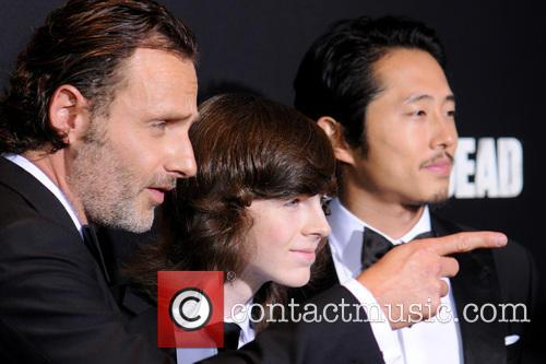 Andrew Lincoln, Chandler Riggs and Steven Yeun 2