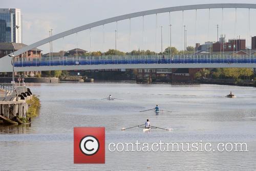 Rowers At Media City By Coronation Street Studio' 2