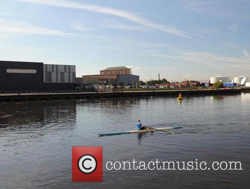 Rowers At Media City By Coronation Street Studio' 6