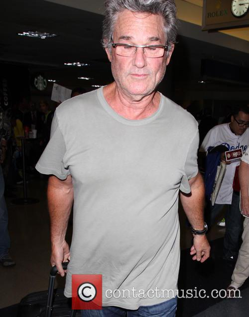 Kurt Russell arrives at LAX