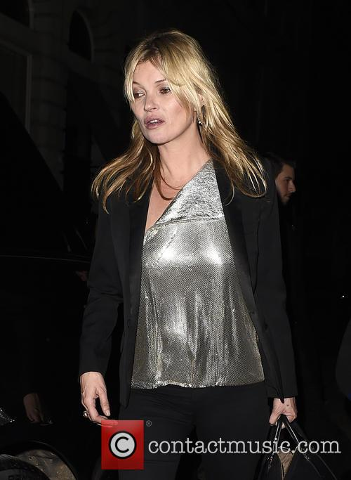 Kate Moss seen leaving Edition Hotel after celebrating...