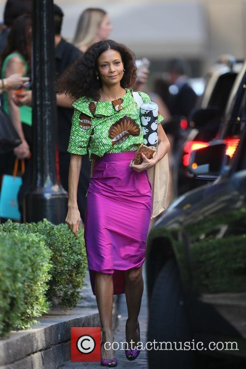 Thandie Newton leaves Power of Women lunch at...