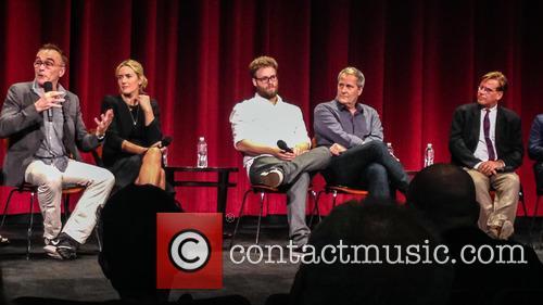 Danny Boyle, Kate Winslet, Seth Rogen, Jeff Daniels and Aaron Sorkin 1
