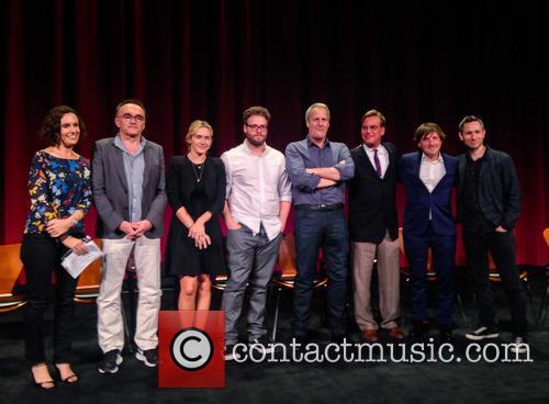 Moderator, Danny Boyle, Kate Winslet, Seth Rogen, Jeff Daniels, Aaron Sorkin, Daniel Pemberton and Elliot Graham 3