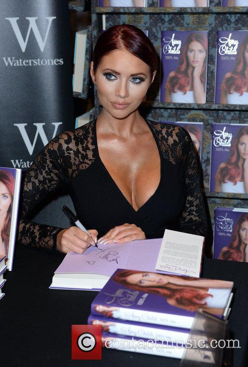 Amy Childs signs copies of her new book...