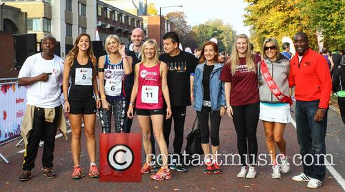 Vas Blackwood, Charlie Webster, Jenni Falconer, Jo Whiley, John Altman, Diana Marchmant, Rebecca Adlington, Emily Maitlis and Derek Redmond 2