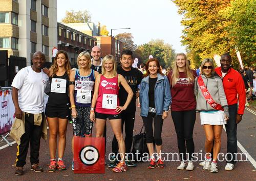 Vas Blackwood, Charlie Webster, Jenni Falconer, Jo Whiley, John Altman, Diana Marchmant, Rebecca Adlington, Emily Maitlis and Derek Redmond 3