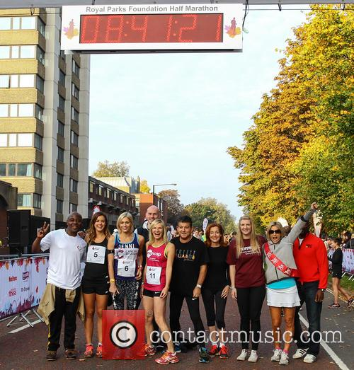 Vas Blackwood, Charlie Webster, Jenni Falconer, Jo Whiley, John Altman, Diana Marchmant, Rebecca Adlington, Emily Maitlis and Derek Redmond 4