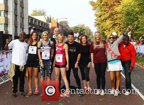 Vas Blackwood, Charlie Webster, Jenni Falconer, Jo Whiley, John Altman, Diana Marchmant, Rebecca Adlington, Emily Maitlis and Derek Redmond 5