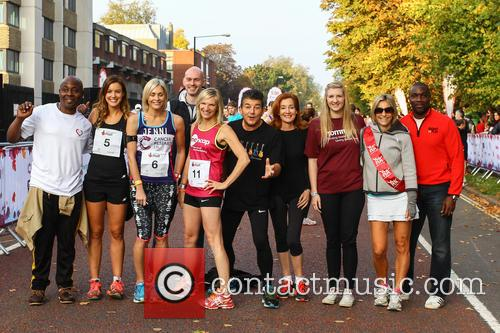 Vas Blackwood, Charlie Webster, Jenni Falconer, Jo Whiley, John Altman, Diana Marchmant, Rebecca Adlington, Emily Maitlis and Derek Redmond 6