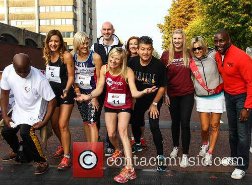 Vas Blackwood, Charlie Webster, Jenni Falconer, Jo Whiley, John Altman, Diana Marchmant, Rebecca Adlington, Emily Maitlis and Derek Redmond 10