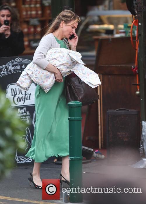 Renee Zellweger filming 'Bridget Jones's Baby'
