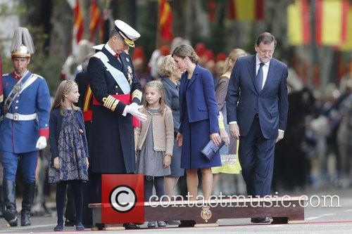Spain's King Felipe, Queen Letizia, Prince Leonor and Prince Sofia 2