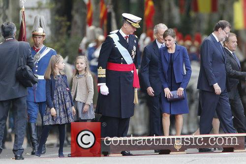 Spain's King Felipe, Queen Letizia, Prince Leonor and Prince Sofia 3