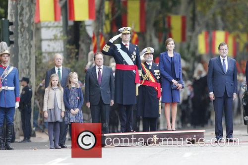 Spain's King Felipe, Queen Letizia, Prince Leonor and Prince Sofia 4