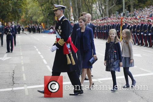 Spain's King Felipe, Queen Letizia, Prince Leonor and Prince Sofia 5