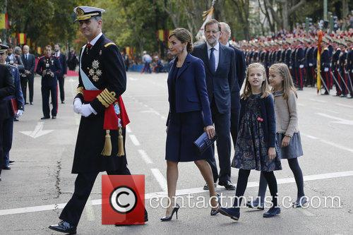 Spain's King Felipe, Queen Letizia, Prince Leonor and Prince Sofia 6