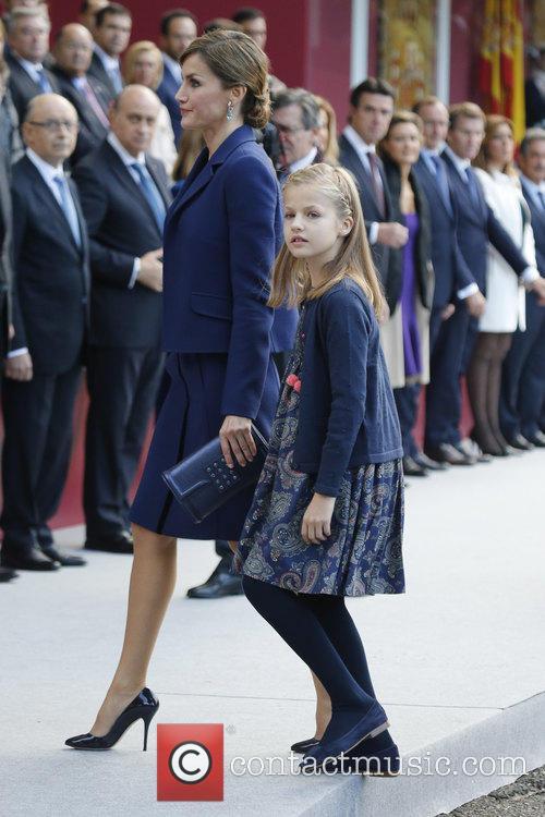 Queen Letizia and Prince Leonor 2