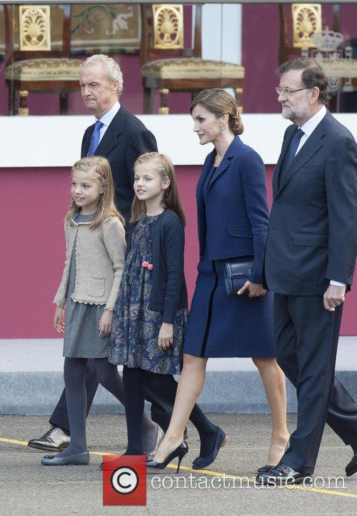 Spain's King Felipe, Queen Letizia, Prince Leonor and Prince Sofia 7