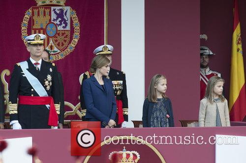 Spain's King Felipe, Queen Letizia, Prince Leonor and Prince Sofia 9