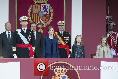 Spain's King Felipe, Queen Letizia, Prince Leonor and Prince Sofia 10