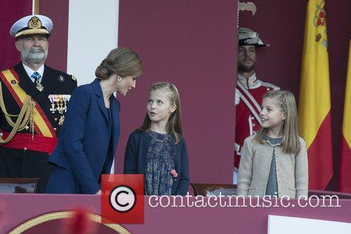 Queen Letizia, Prince Leonor and Prince Sofia 1