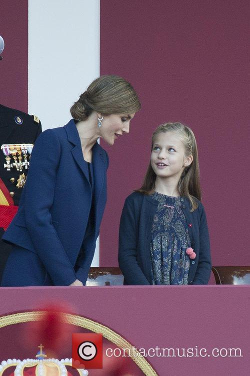 Queen Letizia and Prince Leonor 1