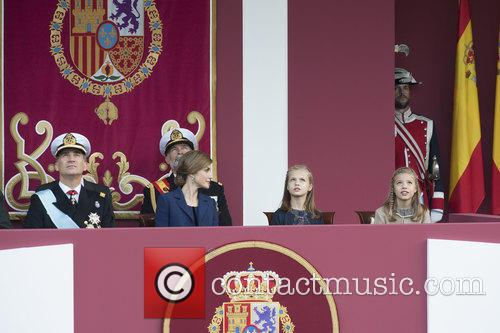 Spain's King Felipe, Queen Letizia, Prince Leonor and Prince Sofia 11