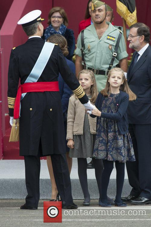 Spain's King Felipe, Queen Letizia, Prince Leonor and Prince Sofia 1