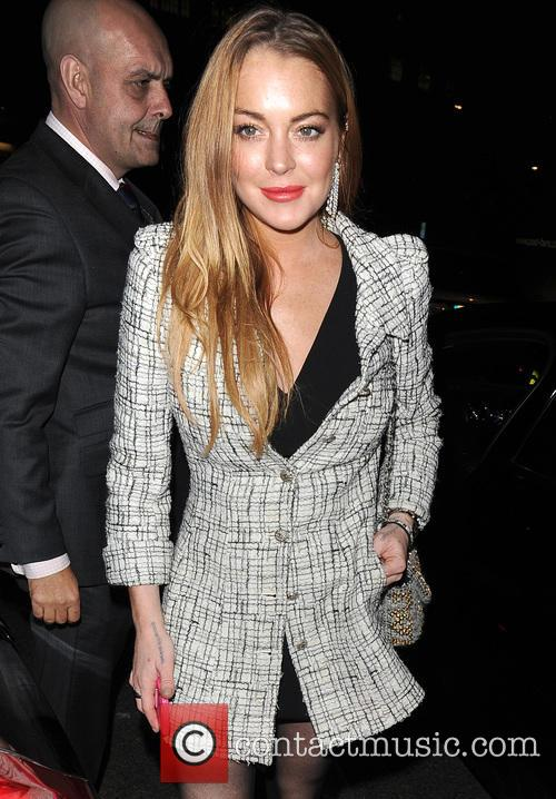 Lindsay Lohan arriving for a private dinner at...