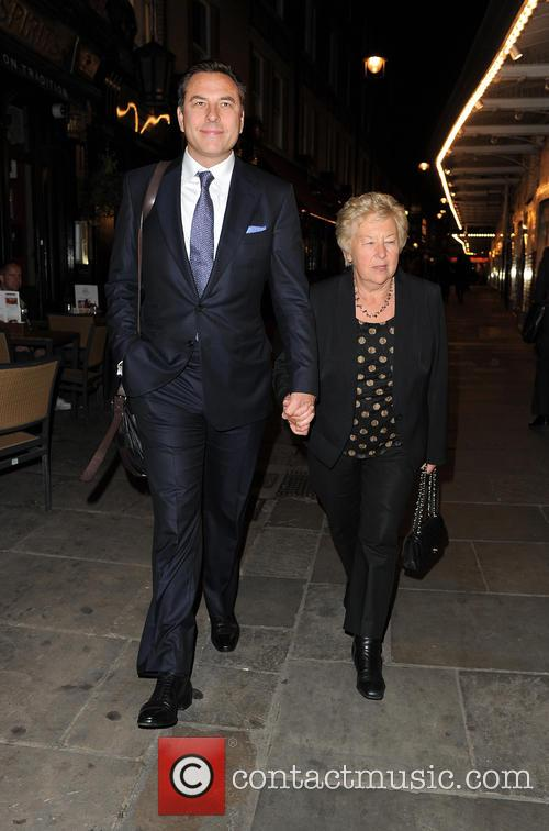 David Walliams takes his mother Kathleen Ellis out...