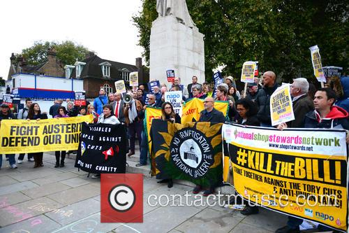Trade Union Co-ordinating Group hold a protest against...