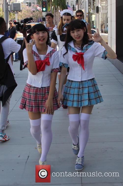 Ladybaby featuring Ladybeard out and about in Beverly...
